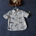 kenzoo Children Coconut palm print long sleeve shirt baby Cotton skateboard shirt wholesale 2017