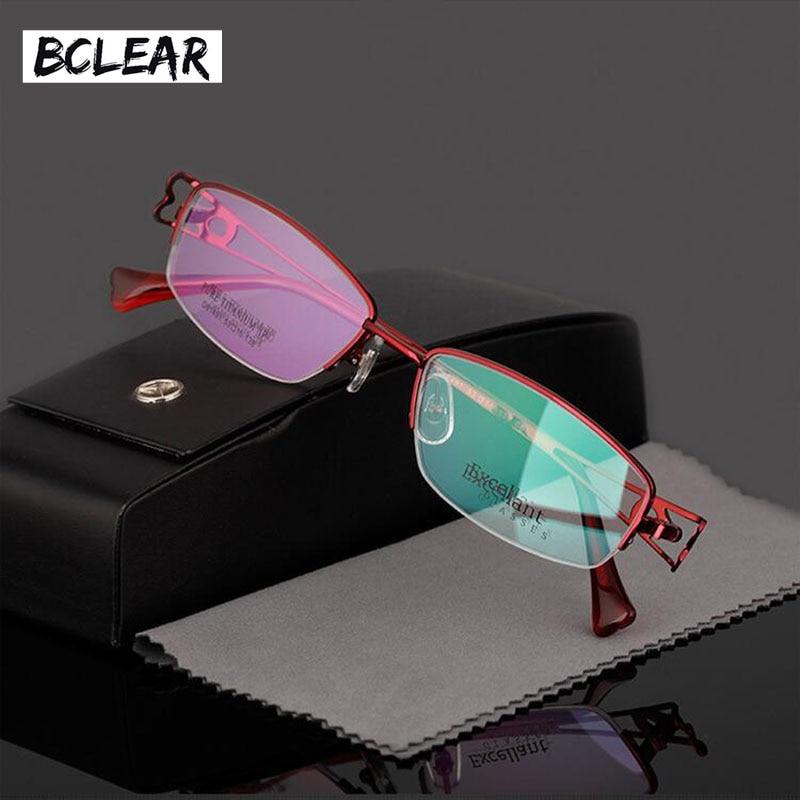 BCLEAR Women ultra light titanium frame eyeglasses myopia frames glasses optical frame fashion half frame D81491