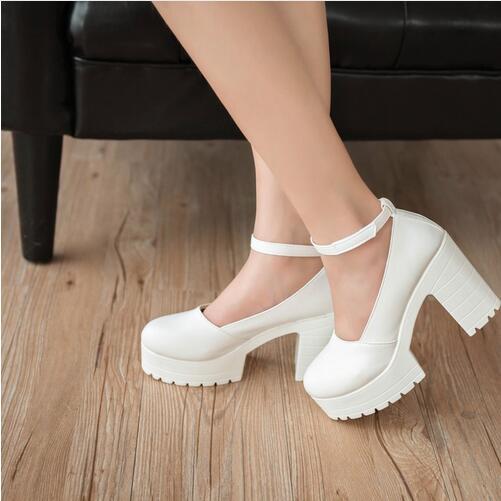 8bca84901 Factory Outlet Gran szie primavera damas calzado casual zapatos de plataforma  tacones gruesos para las niñas Europa mujeres zapatos bombas tacones hihg  en ...