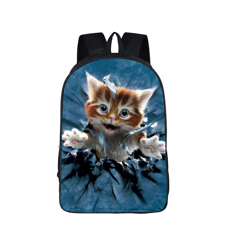 купить Cute Animal Cat Backpack Brand Designer Kawaii Cat kitten Bag Teenager School Backpack For Girls Boys Travel Daypack School Bags