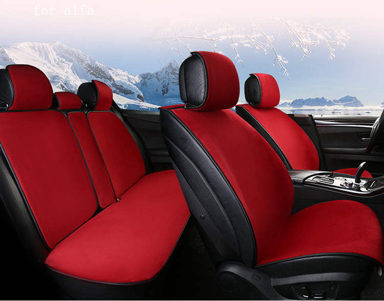 OUZHI keep warm plush car seat cover for Alfa GT Giulia 156 front rear full fur autumn winter seat covers