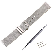 купить 22mm Stainless Steel Watch Band for Samsung Gear S3 Classic / Frontier Stainless Steel Buckle Strap Wrist Belt Bracelet Silver по цене 455.27 рублей