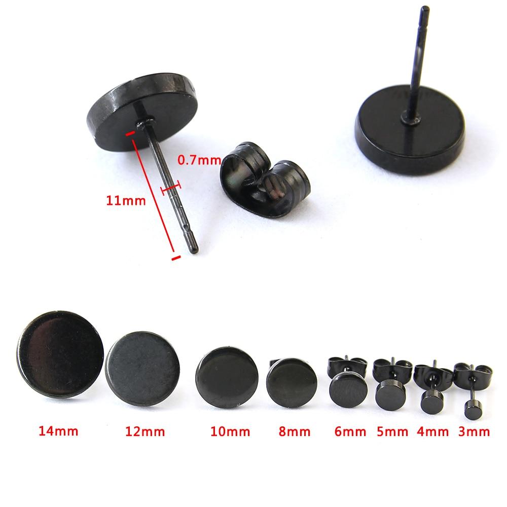 1 paar roostevabast terasest kõrvarõngad kõrvarõngad mustaga - Mood ehteid - Foto 4