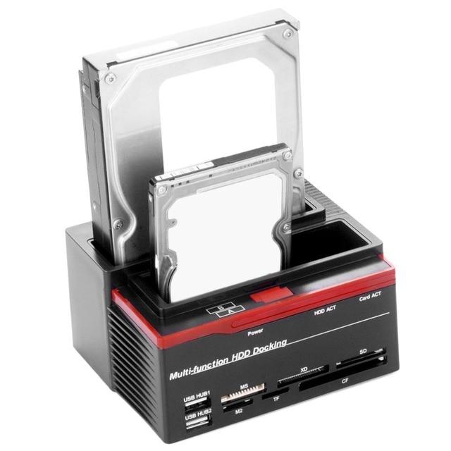США Plug Профессиональный 2.5 Дюймов 3.5 Дюймов SATA IDE HDD Док-Станция база Жесткий Диск Клон USB HUB Карты 892U2IS на складе!