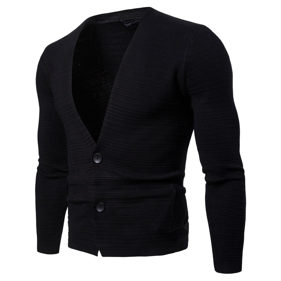2018 Neue Marke Pullover Männer Reine Farbe Strickjacke Pullover Lässig Dünne Kleidung Strickwaren V-ausschnitt Schlanke Männer Pullover Angemessener Preis