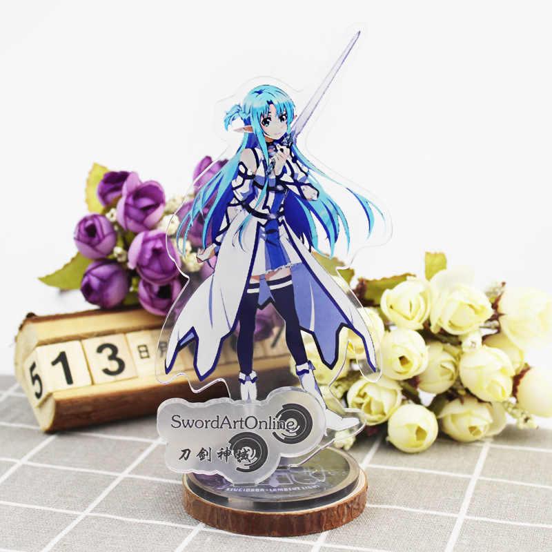 Anime Sword Art Online ekran büyük standı şekilli kalıp plaka tutucu japon karikatür SAO şekil koleksiyonu takı noel hediyesi