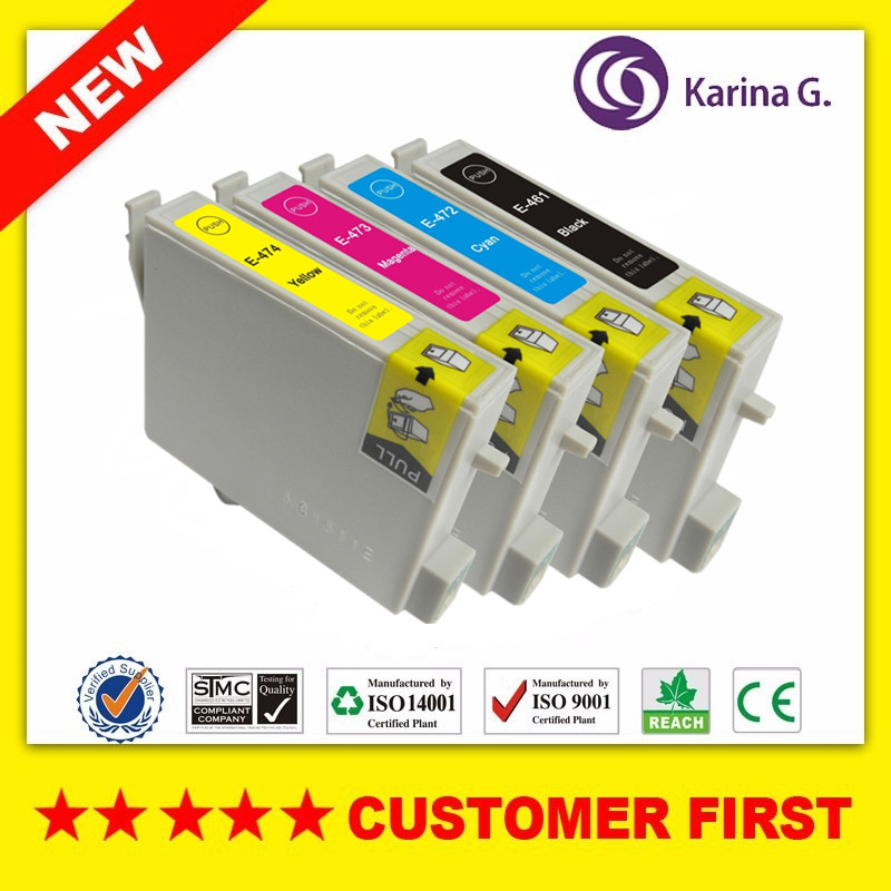 Compatible Ink Cartridges For T0461 T0472 T0473 T0474 Suit For Epson Stylus C63,C65,C83,C85,CX3500,CX4500,CX6500 Etc.