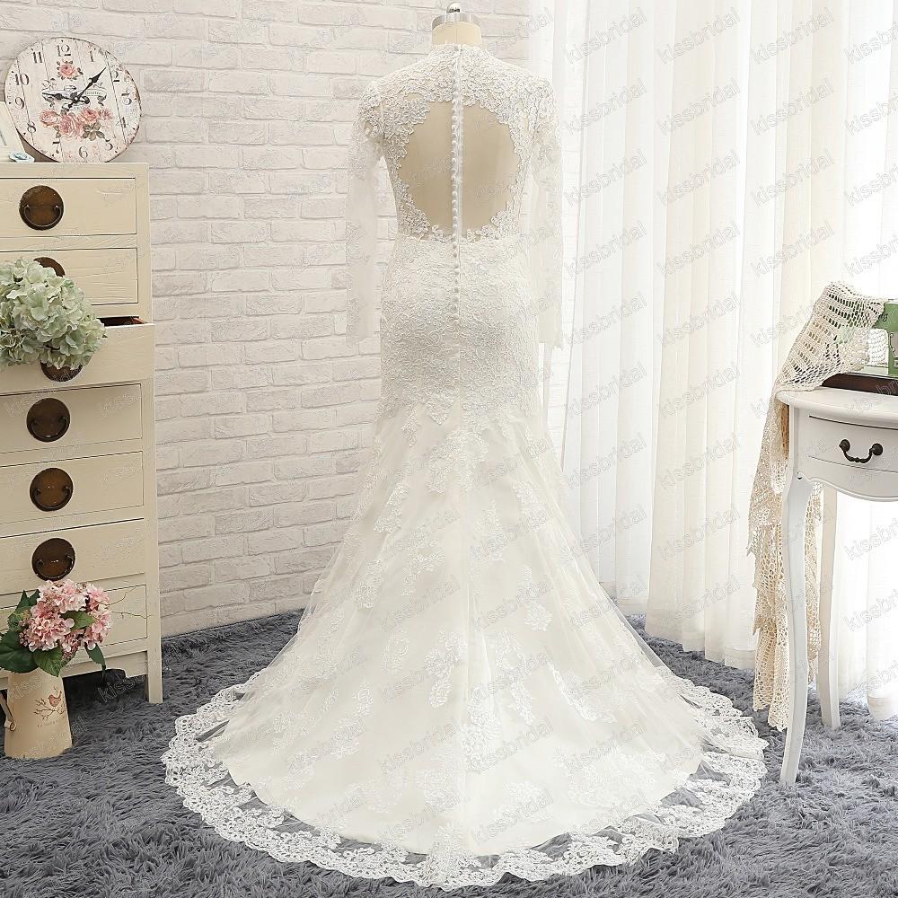 2016-Fashion-Romantic-Long-Lace-Wedding-Dress-Sweetheart-Long-Sleeve-Court-Train-Mermaid-Wedding-Dresses-Gowns