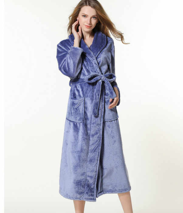 777cd9a033 Robes Pajamas Winter Bath Lounge Long Kimono Robe Vintage Fleece Lined  Ultra Plush Plus Size for