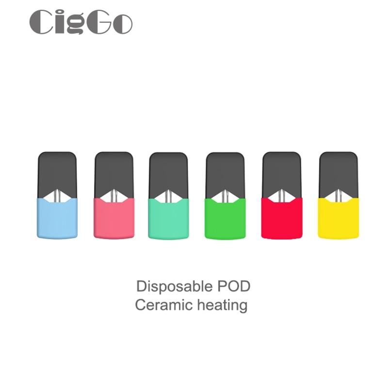 Original Ciggo J Box Pod Cartridge For JUUL For JC01 COCO J Box Vape Mod Electronic Cigarette Kit 0.6ml 1.9ohm Replacement Pods