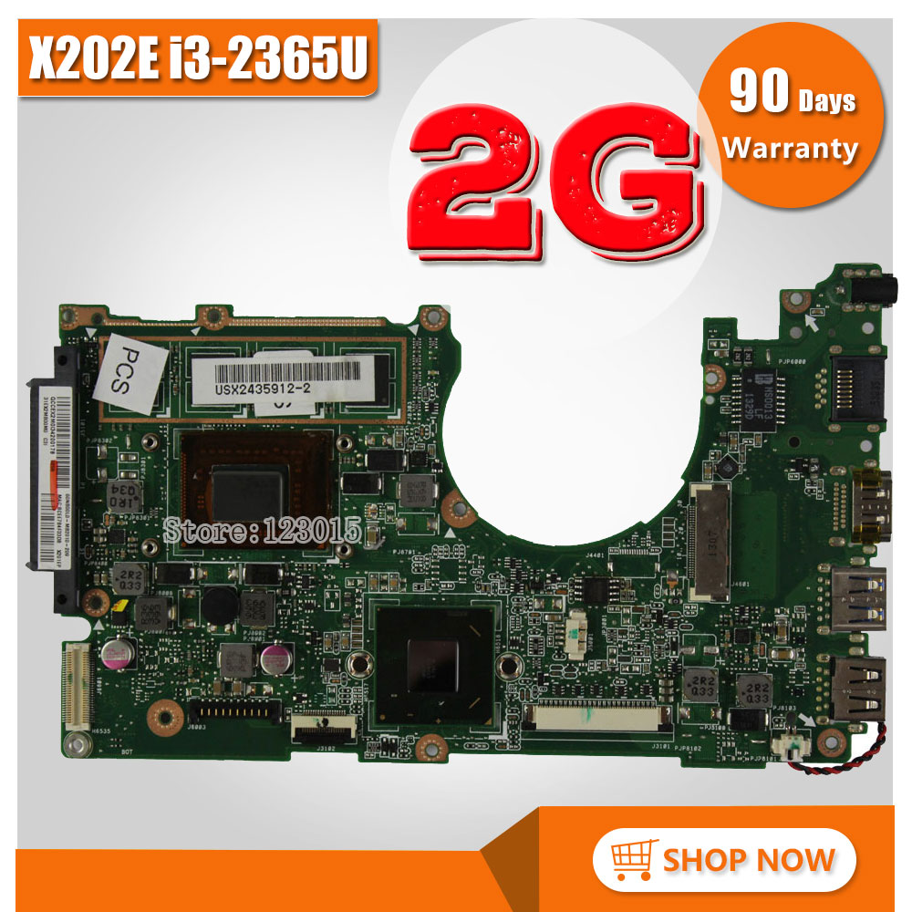 SAMXINNO for ASUS X202E Q200E Laptop motherboard X201E X202E S200E i3-2365U 2G REV2.0 HD Graphics Integrated test good x202e q200e s200e x201e laptop motherboard mainboard for asus with i3 2365cpu 4g ddr3 1333 mhz tested