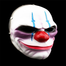 Resin Payday Mask Scary Clown Grimace Halloween For Party Mascara Carnaval
