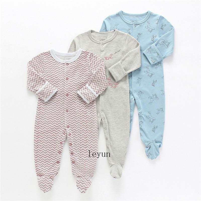 HTB1DJb.PkzoK1RjSZFlq6yi4VXa0 Baby Girl Romper Newborn Sleepsuit Flower Baby Rompers 2019 Infant Baby Clothes Long Sleeve Newborn Jumpsuits Baby Boy Pajamas