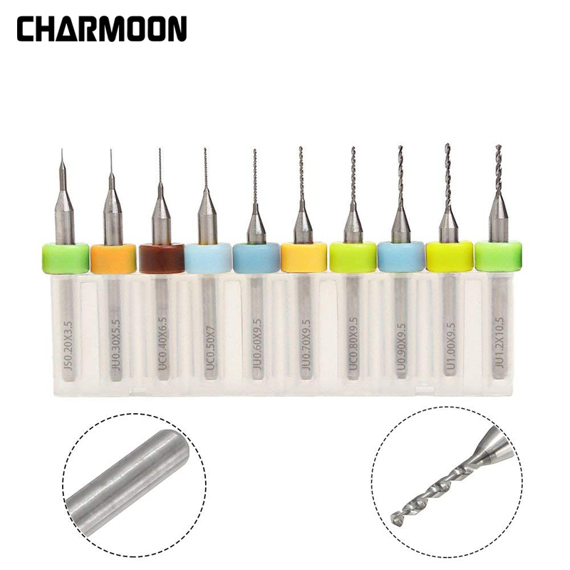 10pcs/Set 0.2-1.2mm <font><b>3D</b></font> Printer Nozzle Cleaning Drill Bits for Extruder RepRap <font><b>3D</b></font> Printer Accessories For MK7 MK8 Print Nozzle image