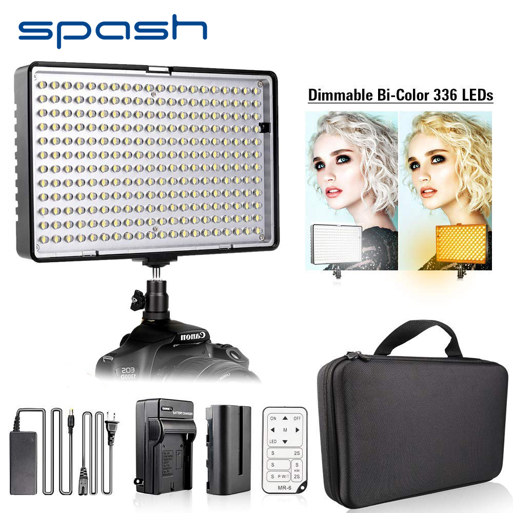 spash TL-336AS LED Video Light Dimmable Bi-color 3200K-5600K CRI96 Studio Light for Camera Youtube Photography led Panel Lamp spash tl 336as led video light dimmable 3200k 5600k photographic lighting hand held studio light lamp for canon nikon olympus