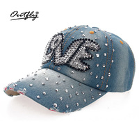 Rhinestones Jean Leisure CAP Woman High Quality Snapback Baseball Cap Man Fashion Vintage Female Casual Cap