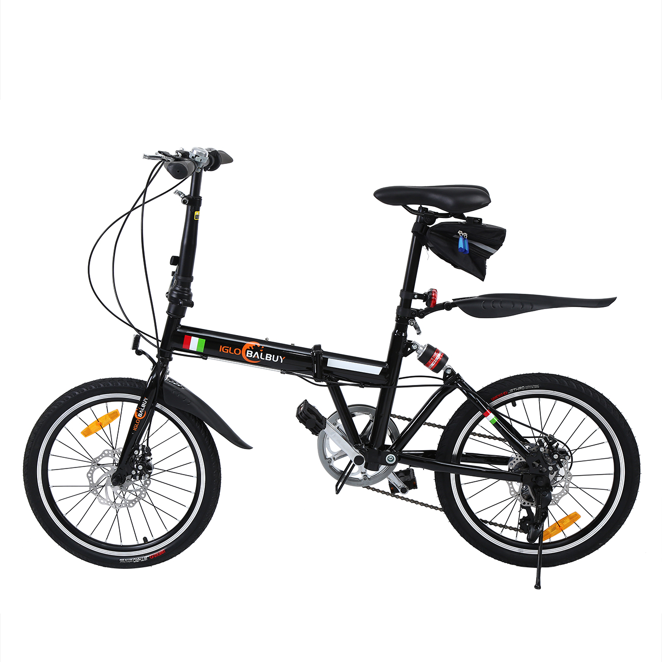 Ship From Eu 20 Inch 7 Speed Folding Bike Bicycle With