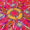 100% Саржевого Шарф Квадрата Шелка Мусульманский Хиджаб Банданы Цепи Новый Дизайн Франция Люксовый Бренд Для Женщин Оголовье Шаль 100*100 см