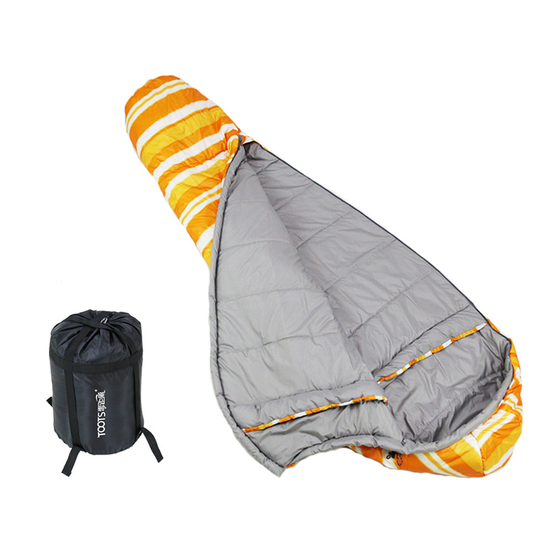Image 4 - VILEAD 3 Colors Mummy type Ultralight Sleeping Bag Portable Waterproof Hiking Camping Stuff Adult Sleep Bed Quilt Lightweight-in Sleeping Bags from Sports & Entertainment