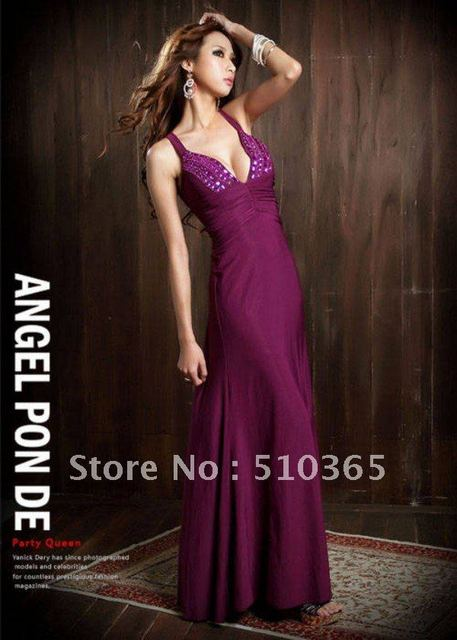 Free shipping 2015  New Noble Elegant sexy jewel criss-cross Evening women vintage dress  2272F
