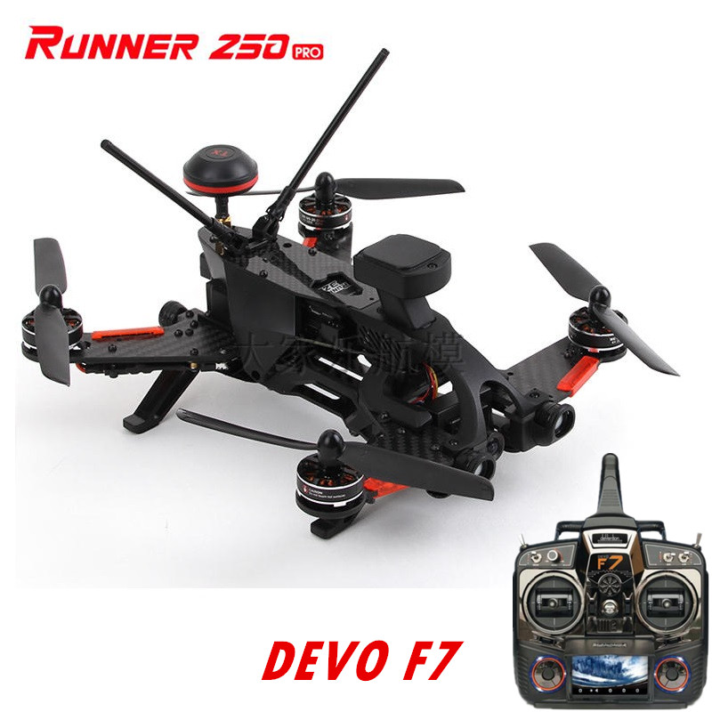 Walkera Runner 250 PRO + DEVO F7(With Battery) GPS FPV Racing Drone with Camera/ OSD/GPS/DEVO F7 Transmitter RTF original walkera devo f12e fpv 12ch rc transimitter 5 8g 32ch telemetry with lcd screen for walkera tali h500 muticopter drone