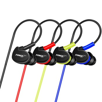 3.5mm Waterproof Earphone Headset With Mic Wired Earphones for HiFi Bass Stereo Sport Sweatproof MP3 PC