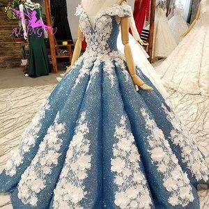 Image 2 - AIJINGYU Dantel Vintage Gelinlik Düz Önlük Kraliçe Frocks Uzun Geri Ayıklaması Gelin Lüks Gelinlik düğün kıyafeti