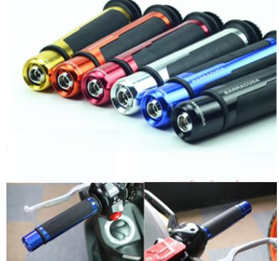 "Wholesale BARRACUDA motorcycle CNC handlebar grip&handlebar ends black fit 7/8""22mm For yamaha R1 honda cb400 vtec mc22 cb750"