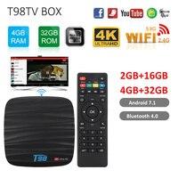 Android 8.1 Smart TV BOX T98 4GB 32GB Allwinner H6 Quad core Bluetooth Set top Box with Voice Remote Box