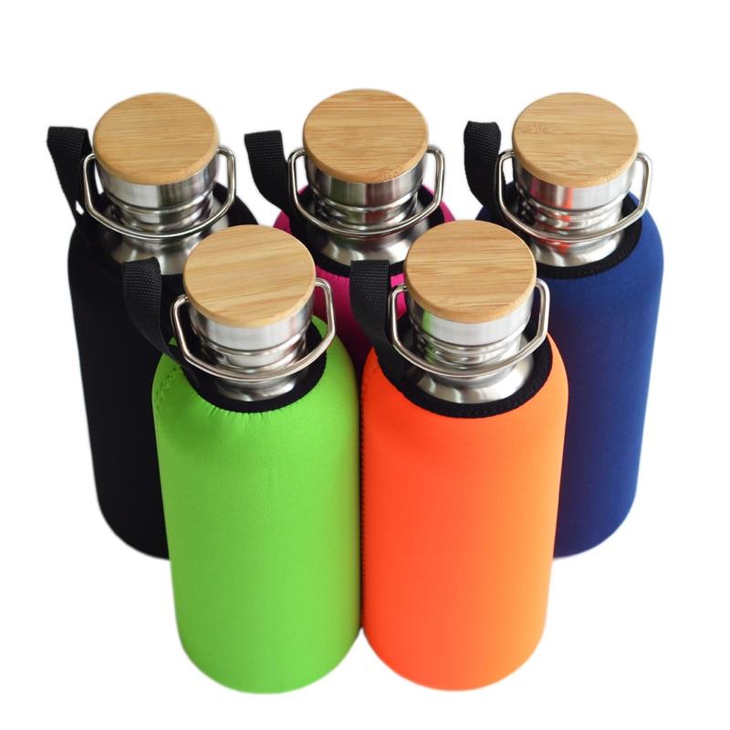 1000mL BPA Besplatna nehrđajućeg čelika boca vode bambus kapa - Kuhinja, blagovaonica i bar - Foto 1