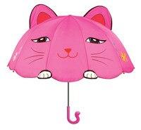 Free shipping fairy cartoon kids umbrella, children Pink Marie Cat cats rain umbrellas, funny birthday gift for child