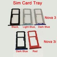 Двойной лоток для sim-карт для huawei Nova 3 3i Nano Sim гнездо для карты памяти Micro SD Держатель для карт с номером отслеживания