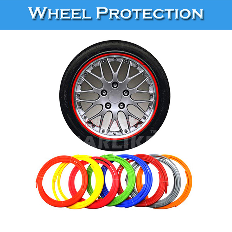 Rims On Car App >> Color Wheel Rim Protector Tire Guard PVC Molding Trim Scratch Protection Car Exterior ...