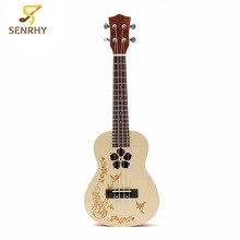 "Senrhy 23"" 4 Strings Concert Ukulele Uke Hawaii Rosewood Electric Guitar Guitarra For Musical Instruments Beginner Lovers Hot"