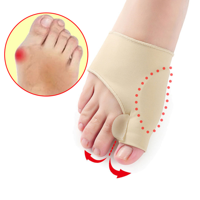 2Pcs=1Pair Toe Separator Hallux Valgus Bunion Corrector Orthotics Feet Bone Thumb Adjuster Correction Pedicure Sock Straightener 1