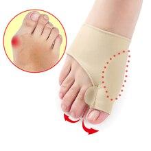 2 قطعة = 1 زوج فاصل أصابع القدم أروح الورم مصحح تقويم العظام قدم العظام الإبهام الضابط تصحيح باديكير جورب مستقيم