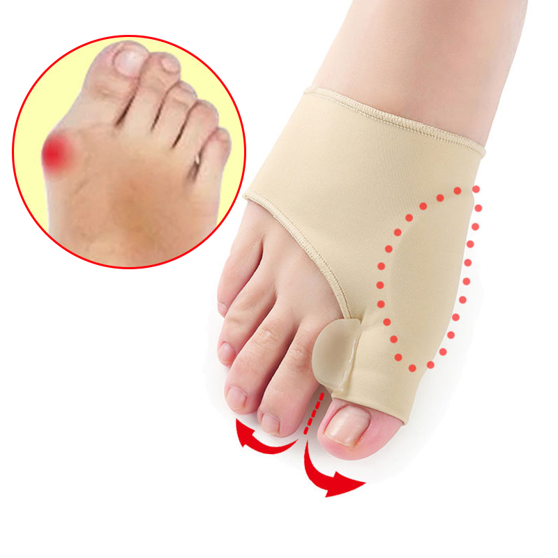2Pcs = 1Pair Toe Separator Hallux Valgus Bunion Corrector Orthotics Feet Bone Thumb Adjuster Correction Pedicure Sock Straightener