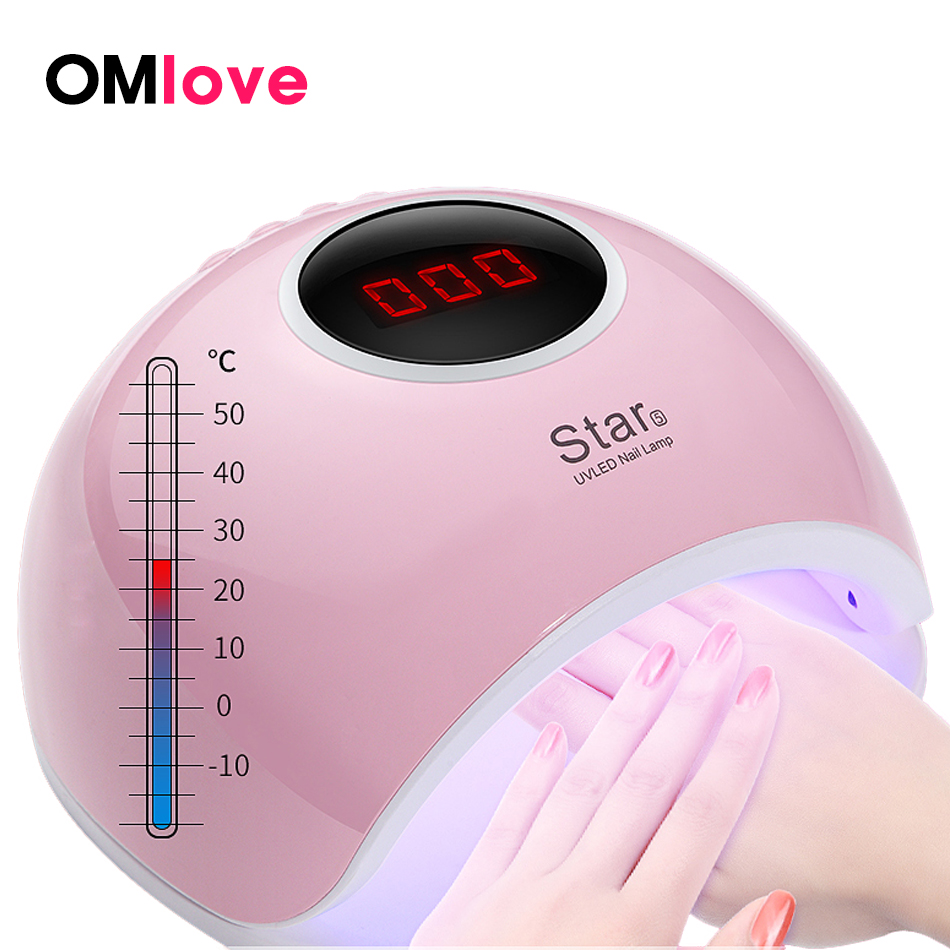 OMlove UV Lamp For Gel Varnish With LCD 72W/48W/36W LED Lamp For Nail Lampara LED Manicura Drying Gel Nail Polish ProfessionalOMlove UV Lamp For Gel Varnish With LCD 72W/48W/36W LED Lamp For Nail Lampara LED Manicura Drying Gel Nail Polish Professional