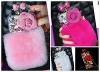 Fluffy Plush Auger Perfume Bottle Case For Samsung Galaxy S7 S6 Edge Plus S5 S4 N5