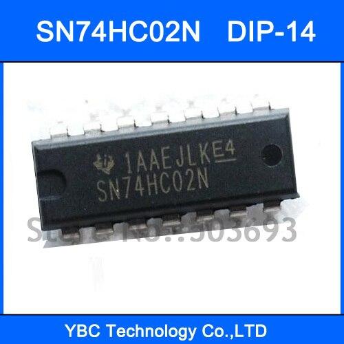 100pcs SN74HC02N 74HC02 74HC02N 7402 DIP-14 Quad. 2-input NOR Gates ...