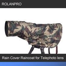 Free Shipping ROLANPRO Rain Cover Raincoat for Telephoto Lens Rain Cover/Lens Raincoat Army Green Camo Guns Clothing L M S XS