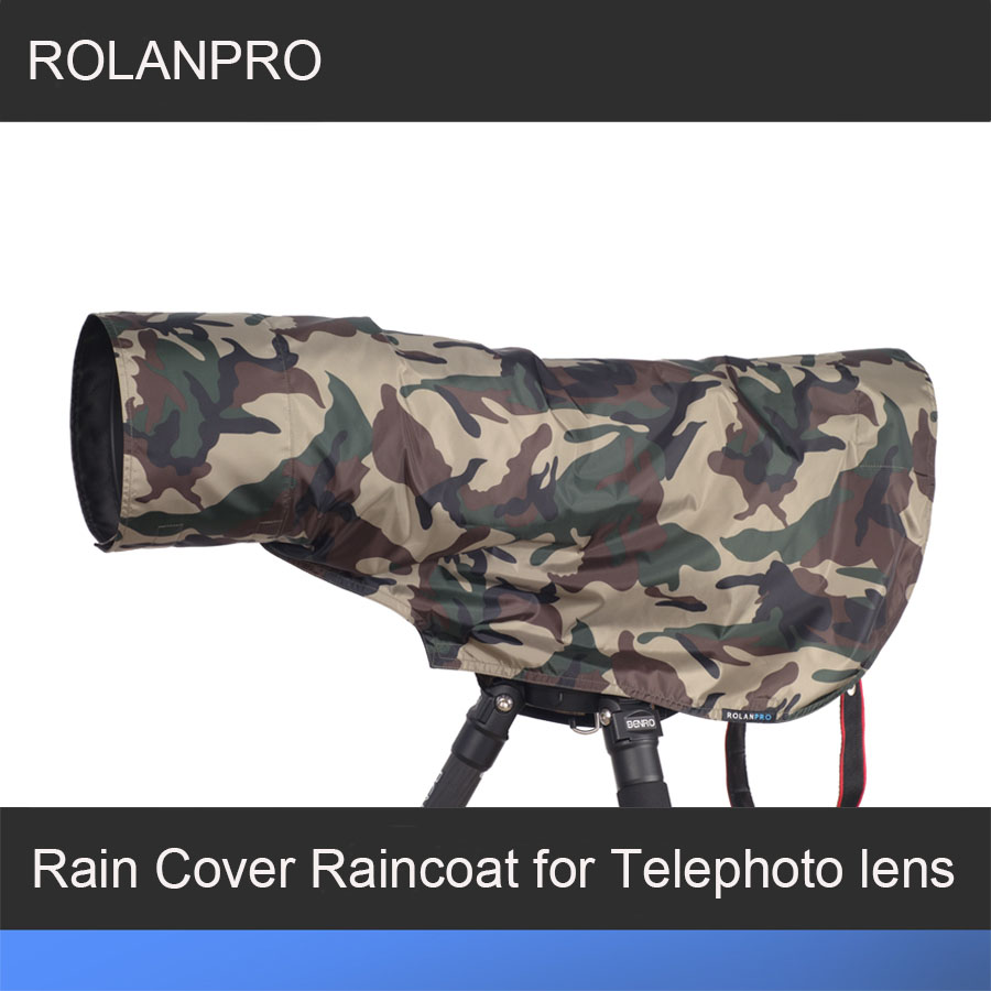 Rolanpro Rain Cover Raincoat For Telephoto Lens Rain Cover/lens Raincoat Army Green Camo Guns Clothing L M S Xs Xxs Beneficial To Essential Medulla Camera/video Bags Digital Gear Bags