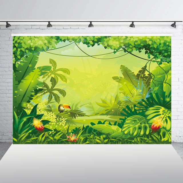 Jungle safari backdrop Photography Backdrops happy birthday backdrop background Banner birthday Baby shower Backdrop XT-6713