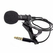 Мини-микрофон с зажимом и ОТВОРОТОМ с интерфейсом 3,5 мм, микрофон для ПК, ноутбука, планшета samsung, iPhone, Xiaomi, Mikrofon, Mikrofono