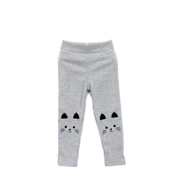 Kacakid Toddler Baby Girls Skinny Pants Cute Cat Printed StretchyKids Warm Leggings Capris Trousers LL6