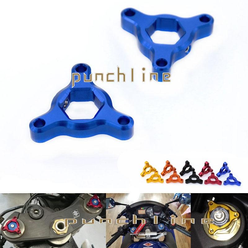 For YAMAHA MT-09 MT-09 Tracer/Tracer 900 MT09 Motorcycle 14mm CNC Aluminum Suspension Fork Preload Adjusters Blue