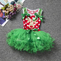 Christmas Tiered Tutu Dresses Party Costumes Disguise Vestidos Festival Clothing Ball Gowns 0-5Years Gorgeous Princess Dress