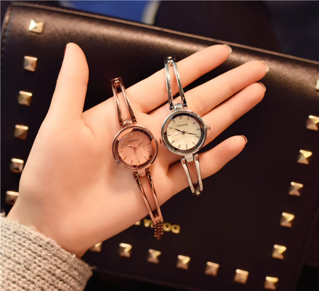 Fashion Rose Gold Women Bracelet Watches Ulzzang Brand Rhinestone Luxury Elegant Popular Watches for Women Casual Ladies Clock