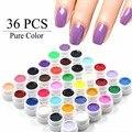 36 Pure Color Gel UV Nail Art Puntas de DIY Decoración para Barnices de uñas de Manicura de Uñas de Gel Polaco Extensión Pro Gel Herramientas de Maquillaje