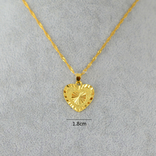 Anniyo Heart Pendant and Necklaces Romantic Jewelry Gold Color for Womens,Wedding gift,Girlfriend Wife Gifts
